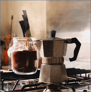 Coffee and Moka pot